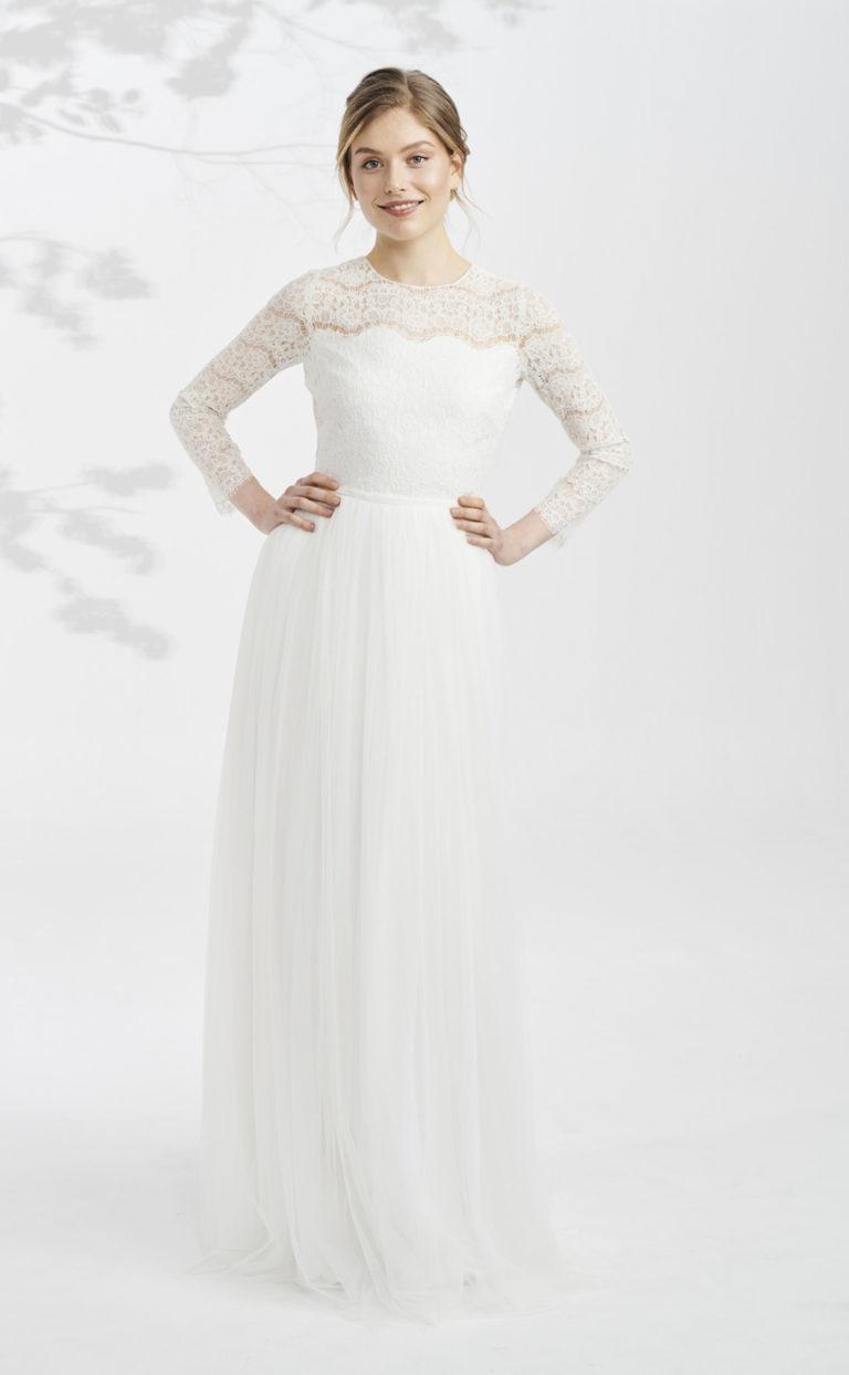 Vintage Brautkleid mit Ärmeln: Dari