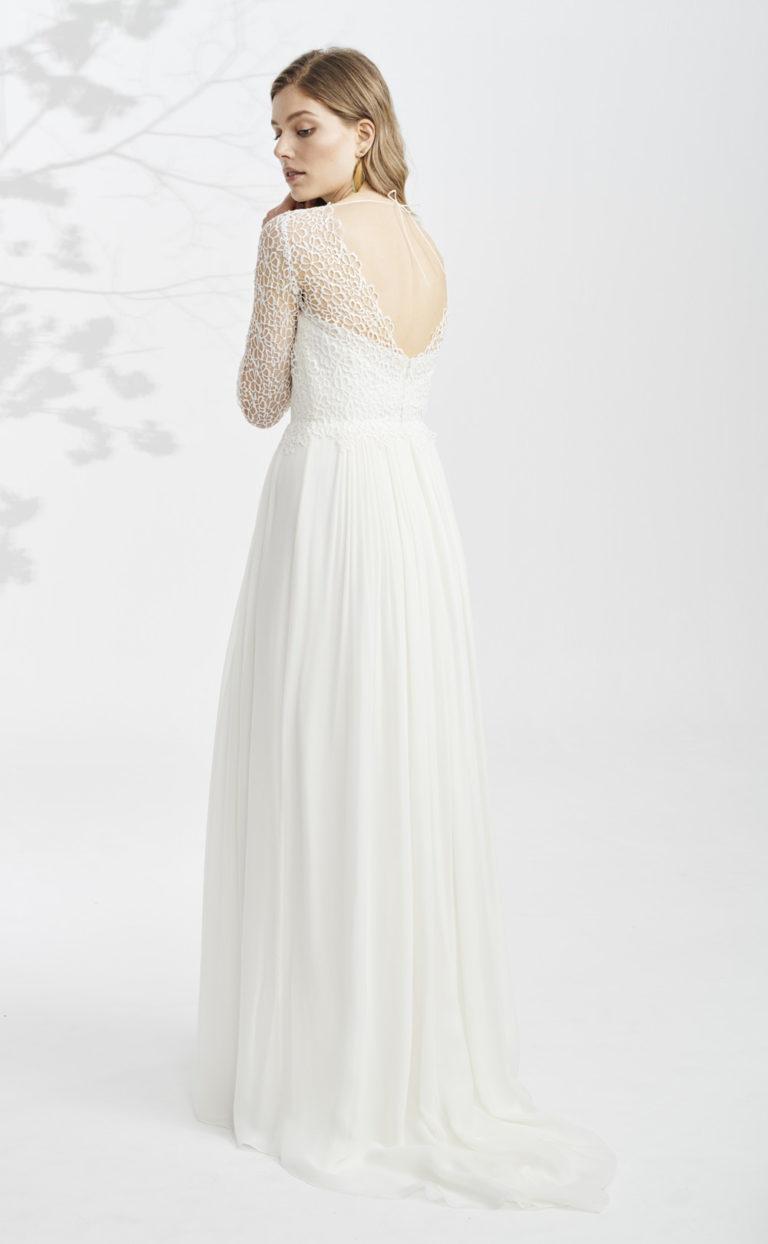 Brautkleid mit langen Ärmeln: Veerle