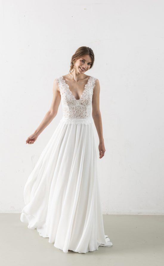 Milele - Brautkleid mit Spitze